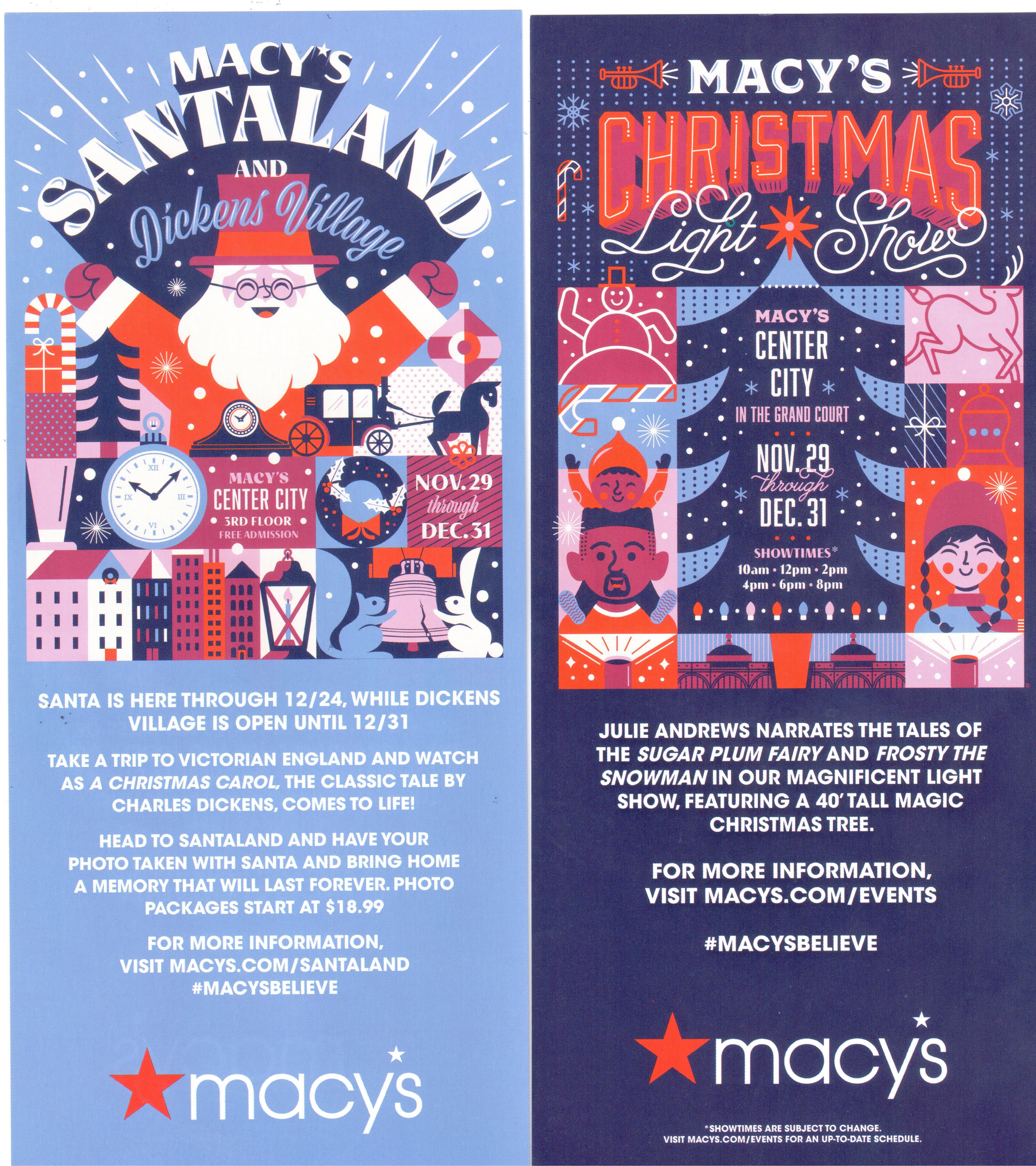 Christmas Light Show at Macy's Philadelphia – Friends of Wanamaker